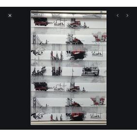 baskılı istanbul desen zebra perde