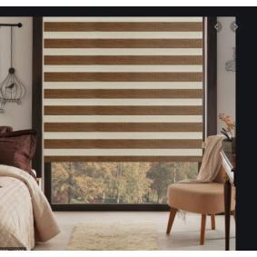kahve bambu zebra perde