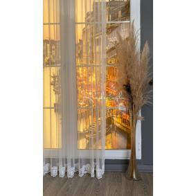 Tül Perde Grek Zemin Sade Etekli Tül Perde 6 Farklı Model