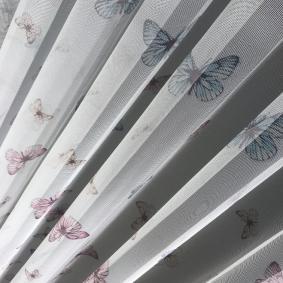 tül perde kelebek desen brillant dijital baskı