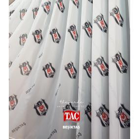Taç Lisanslı Beşiktaş Tül Perde