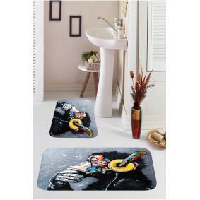 Kozzy Home  Dijital Baskılı 2'li Banyo Paspası RFE9535