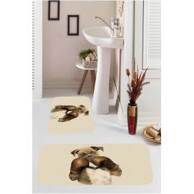 Kozzy Home  Dijital Baskılı 2'li Banyo Paspası RFE9542