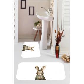 Kozzy Home  Dijital Baskılı 2'li Banyo Paspası RFE9544