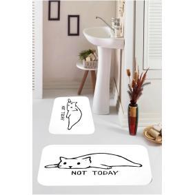 Kozzy Home  Dijital Baskılı 2'li Banyo Paspası RFE9549