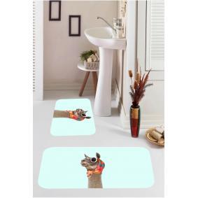 Kozzy Home  Dijital Baskılı 2'li Banyo Paspası RFE9554