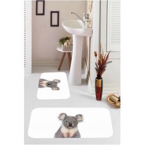 Kozzy Home  Dijital Baskılı 2'li Banyo Paspası RFE9555